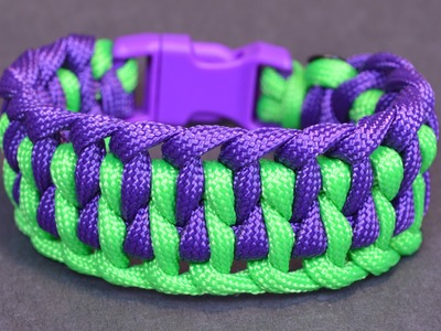 "How to Make the ""Wide Genoese"" Paracord Bracelet with Buckle - BoredParacord"