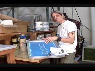 How To Screen Print: Screen Taping Tips