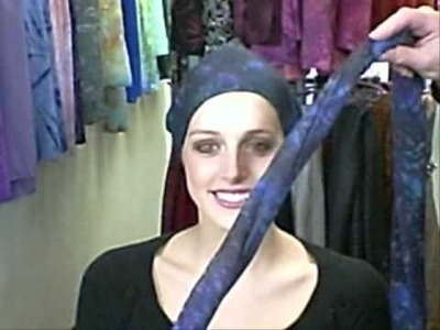 How to Tie a Head Wrap Turban with Sash or Bow.wmv