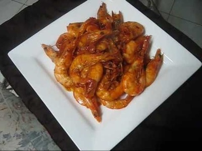 Jamaican Peppered Shrimp -Middle Quarters style