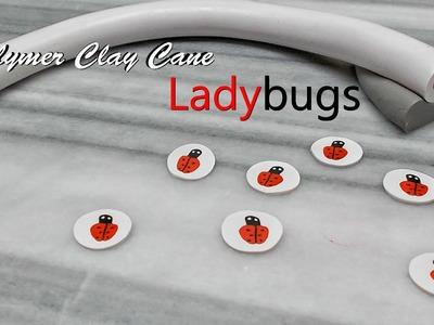 Ladybug cane tutorial, Polymer Clay.