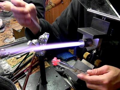 Lampwork Glass Stash Jar from Scrap Blow Tube Tutorial BORO