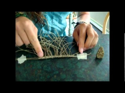 Macrame Wrap a Stone part 1