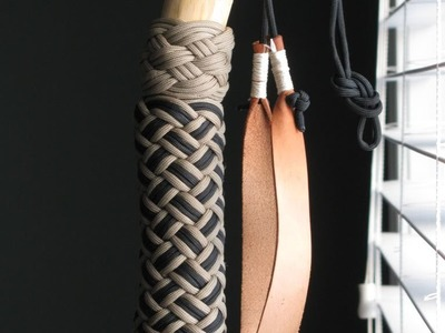 Paracordist how to tie a Turks Head knot easily using a jig and paracord for a hiking staff handle