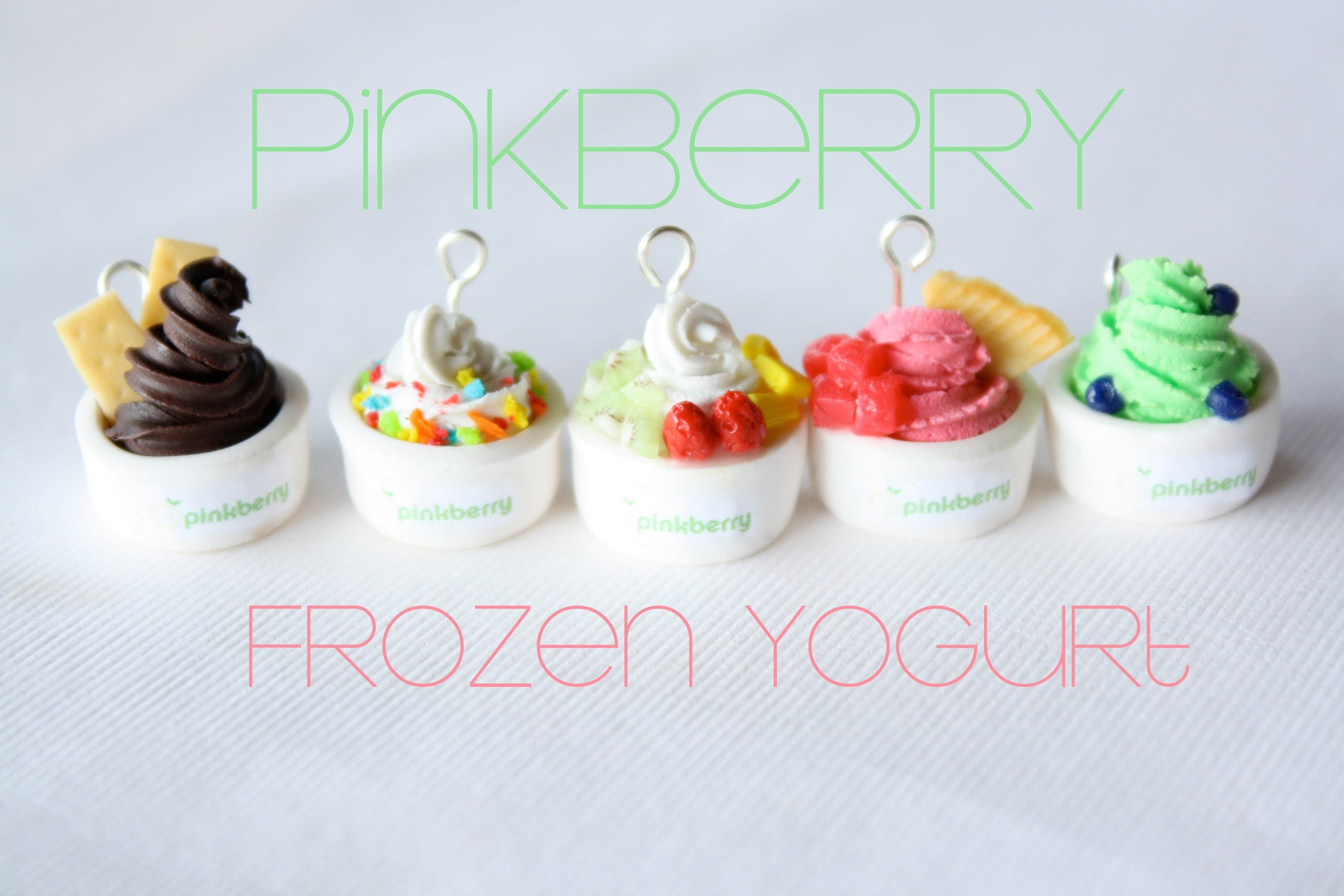 Pinkberry Frozen Yogurt - Clay Ice Cream Tutorial