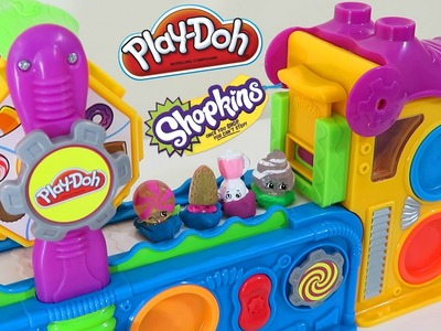 Play Doh Mega Fun Factory ✦ Shopkins Take a Field Trip! Play Dough Super Fun Playset!