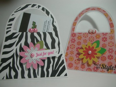 Purse shaped card.gift card holder