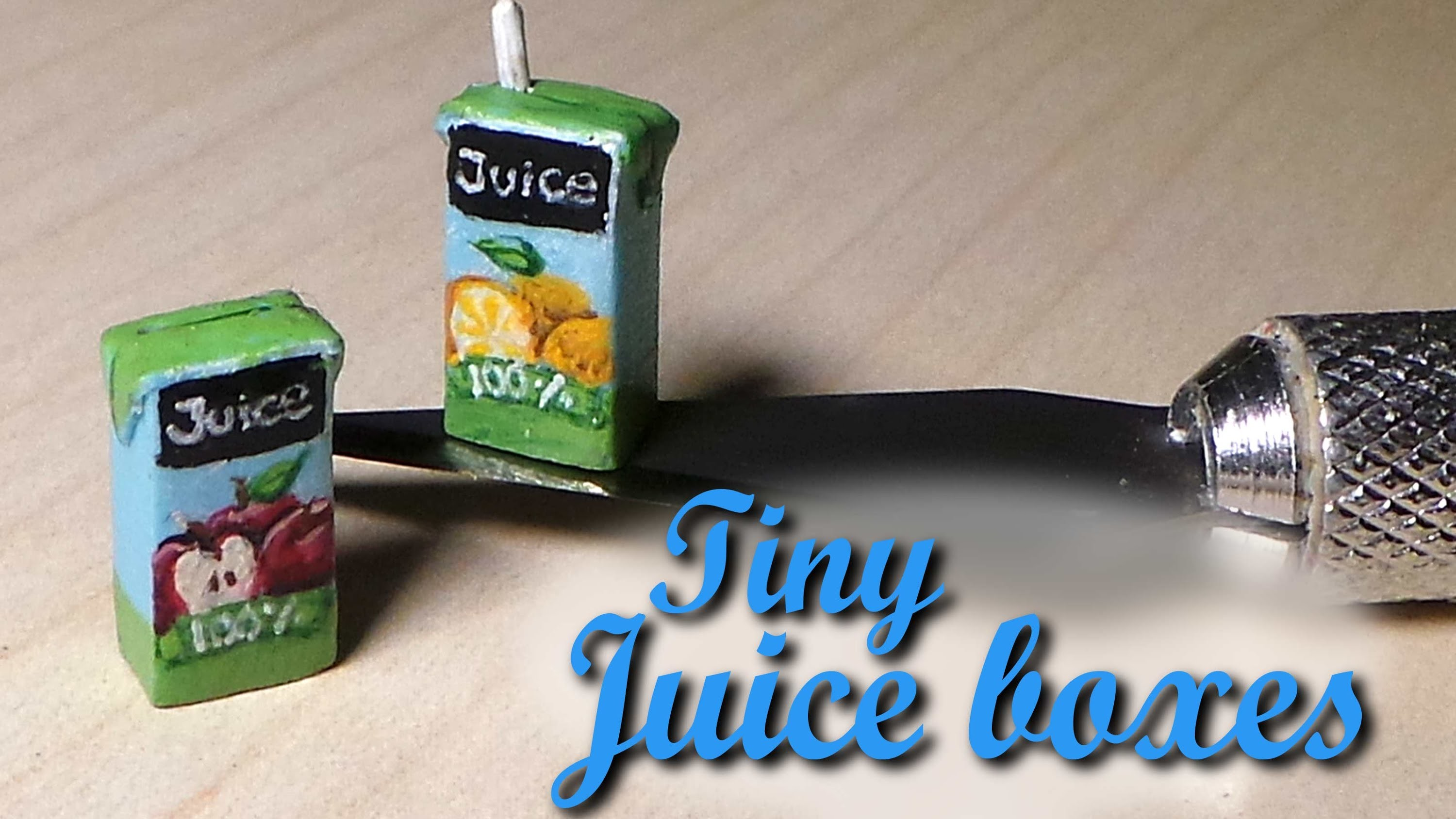 Quick.Easy; Miniature Juice Box - Polymer Clay Tutorial