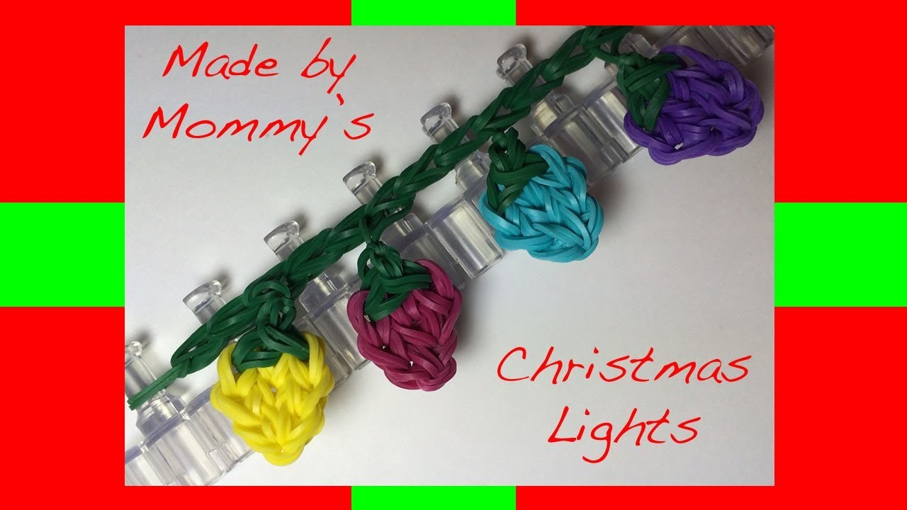 Rainbow Loom Band Christmas Lights Charm or Fairy Lights