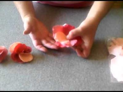 Silk Rose Petal Ideas-Make a Flower from Rose Petals