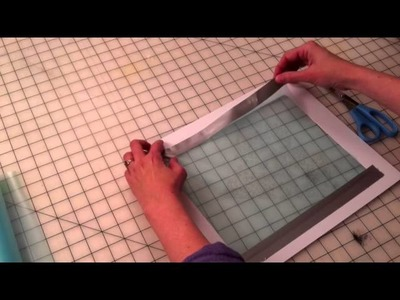 Taping A Thermofax Screen To A Frame