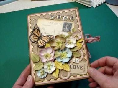Valentine Book of Love card, tag, and mini album