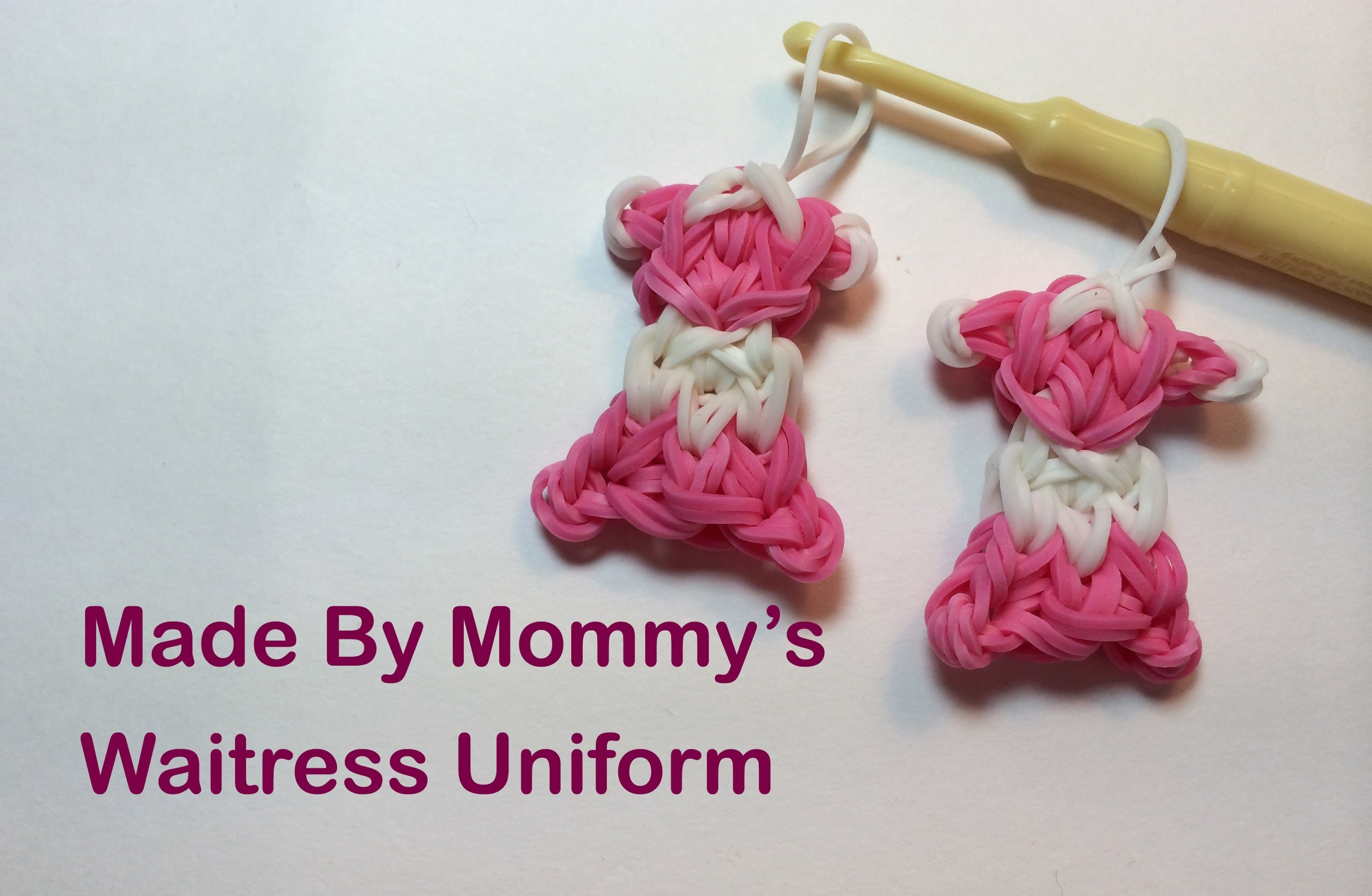 Waitress Uniform Charm on the Rainbow Loom