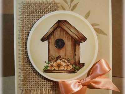 Weathered Birdhouse Card Making Tutorial