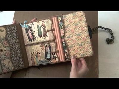 8x8 Graphic45 A Ladies Diary Mini-Album