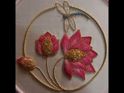 Beautiful Mirror Work in Dress Embroidery Stitching