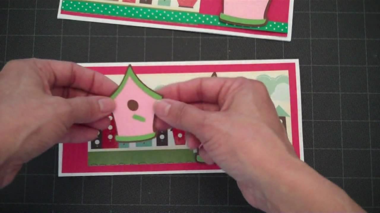 Bird House Rectangle Card-Stretch Your Imagination Cricut Cartridge