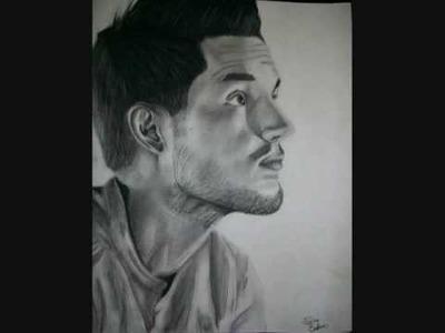 Brandon Flowers Charcoal Drawing