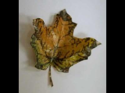 Burned Paper Bag Leaves