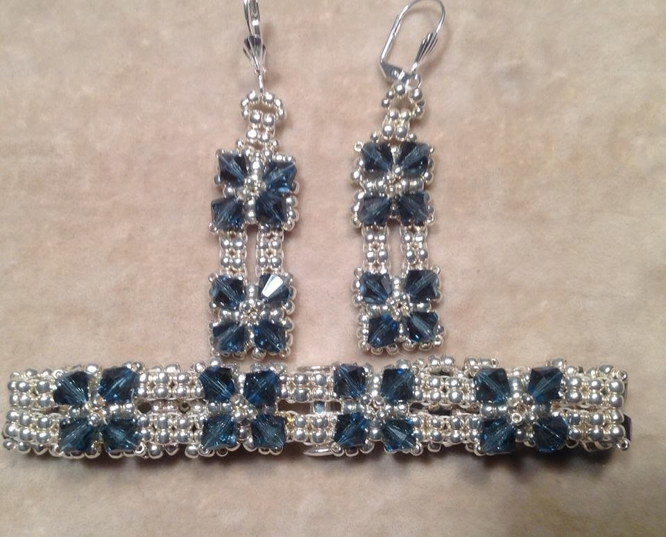 Classic Crystal Earrings and Bracelet Tutorial