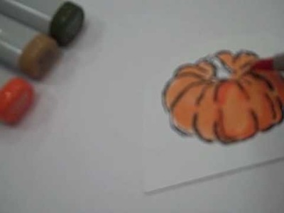 Coloring with Copics - a Basic Pumpkin