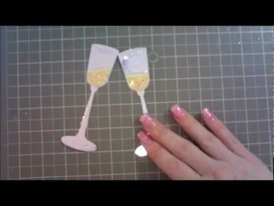 Cricut 'Wrap It Up' & 'Martha Stewart' Wedding Card