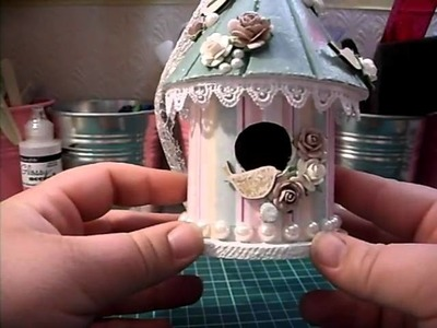 Decorated mini bird house