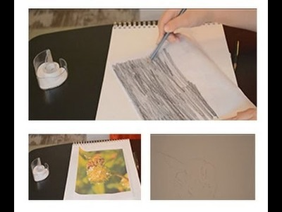 Drawing lesson: How to easily trace without tracing paper