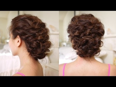 Easy Messy Updo Hair Tutorial