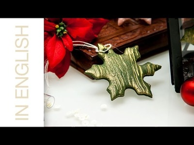 Embossed Clay Holiday Ornaments with Spellbinders