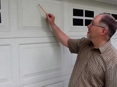 """Faux Windaux"" tm faux fake garage door windows - installation"