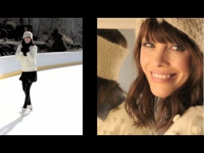 Figure Skating Fashion & Beauty Look: Outdoor ice skating Style