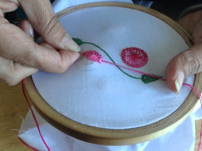 Hand Embroidery: Chemanthy Work Embroidery