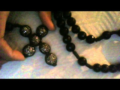 Hiphopbling.com review Iced Out Hem Black Cross Disco Ball Rosary Necklace