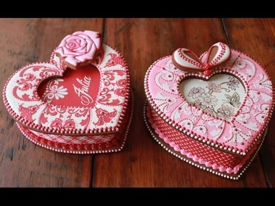 How to Assemble 3-D Cookie Heart Boxes