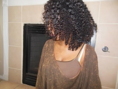 How to do a braid out on Natural. Curly hair.