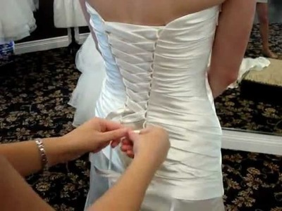 How To Lace A Corset Back Gown
