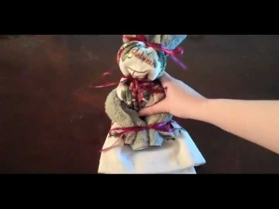 How To Make A Towel Bunny