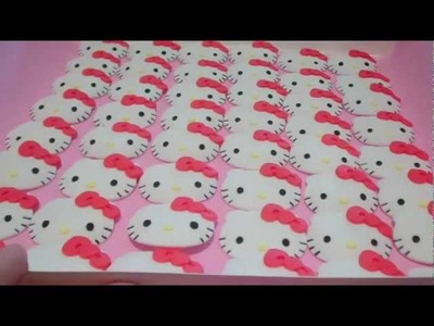 How to Make Hello Kitty Cupcake Toppers (2) Using the Cutter & Embosser