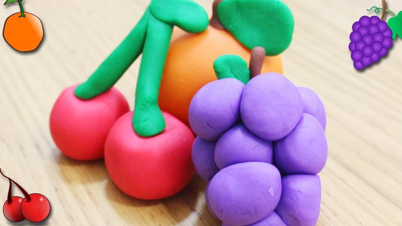How to Make Playdough Fruits | Popular Play Doh Fruits