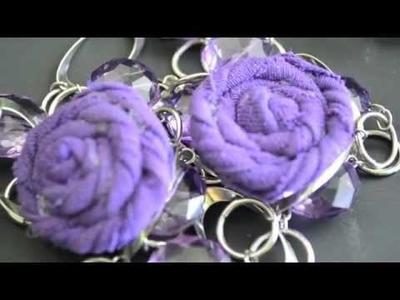 How to make rosette earrings from t-shirt scraps | Nik Scott