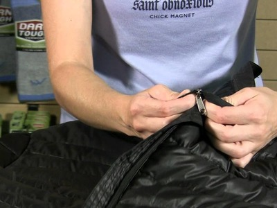 How to Stuff a Jacket in a Self-Stowing Pocket