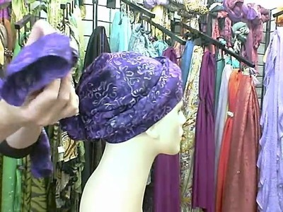 How to Tie a Head Wrap with a Twist.wmv