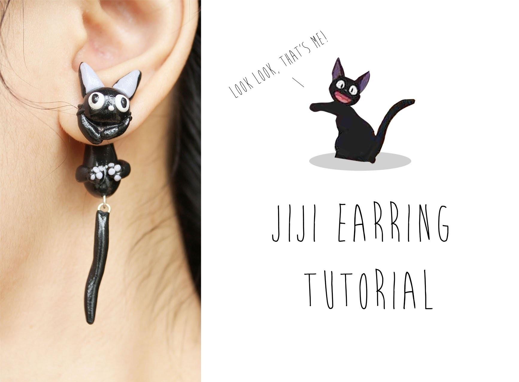 Jiji Cat Polymer Clay Earrings (Kiki's Delivery Service) Tutorial