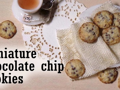 Miniature Chocolate Chip Cookie Tutorial - Polymer Clay