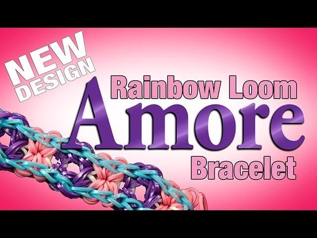 NEW Rainbow Loom Design - AMORE Bracelet!
