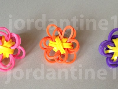 New Rainbow Loom Solid Flower Fun Charm
