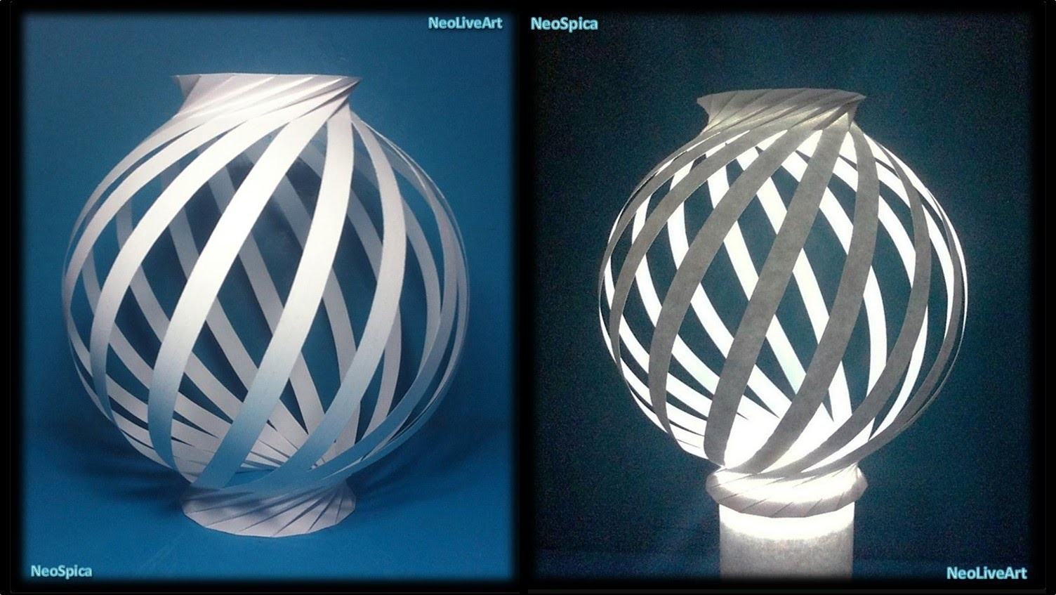 Paper Lamp Ball Twist Spiral 1