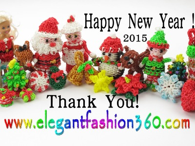 Rainbow Loom Happy New Year 2015 - Thank You from Elegant Fashion 360