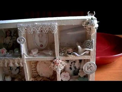 Shabby Vintage Shadow Box   6-5-12